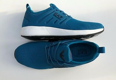 EMPORIO ARMANI EA7 Turquoise Trainers Sneakers Runners Size UK 9 BNIB