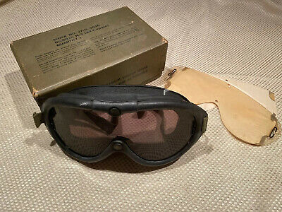 WWII Aviator Pilot Goggles N-2 With Box And Two Lenses No. 37-G-3050 Polaroid