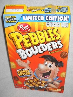 #10415 POST 2013 Pebbles Boulders Limited Edition Cereal BOX ONLY