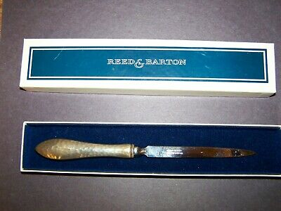 Antique Reed & Barton Sterling Silver Letter Opener New In Box