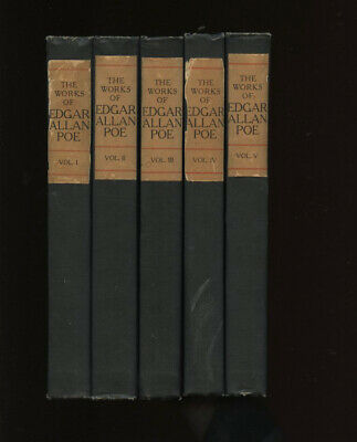 Poe, Edgar Allan: The Works of Edgar Allan Poe - Raven edition (all 5 volumes) H