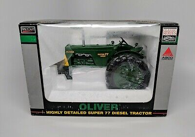 SpecCast Oliver Super 77 Diesel Tractor w/ Green Wheels - 1:16 Scale - New