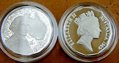 1989 50 cent Captain COOK STERLING SILVER PROOF coin.Only 24,999 made!Scarce!