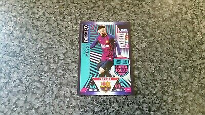 Match Attax Ucl 2018/19 Le11 Lionel Messi Super Squad Limited Edition Mint