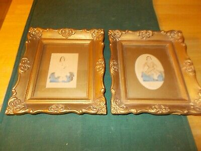 Done In 1825 Two Water Color Portraits Of Young Girls One Holding Cat One Has Ab