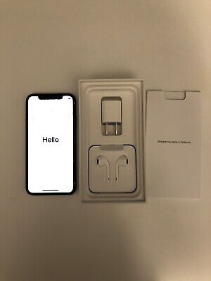 iPhone X 64gb Unlocked Cracked Screen Space Gray CDMA GSM A1865 Works Great