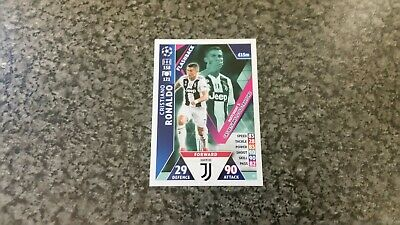 Match Attax Ucl 2018/19 No-98 Cr7 Cristiano Ronaldo Flashback Card Mint