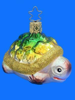 INGE GLAS BABY DUCK CHICK IN NEST GERMAN BLOWN GLASS CHRISTMAS ORNAMENT