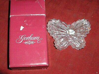 Gorham Crystal Butterfly Trinket Box