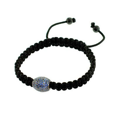 5.63ct Blue Sapphire Spinel Bead Macrame Bracelet Sterling Silver Gift Jewelry