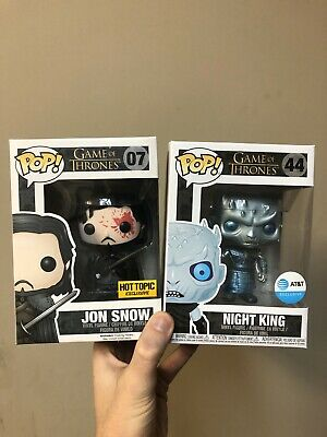 Funko Pop Game of Thrones Lot of 2 Exclusive Night King And Jon Snow
