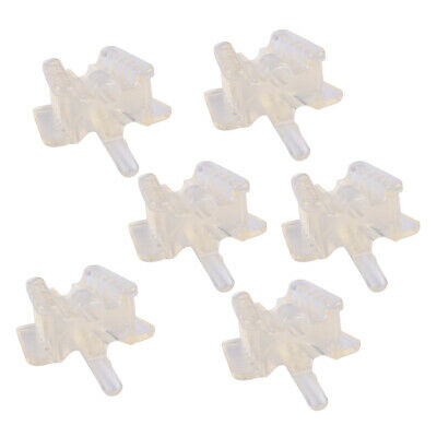 6Pcs Dental Silicone Mouth Support Prop Holding Saliva Ejector Suction Tip Large