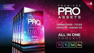 PREMIERE PRO PACK. 400 Creative Assets. Transitions, Titles, Sound FX.