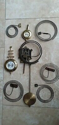 6 Various Old Clock Gongs & 3 Pendulums. Sold For Spares Or Repairs.