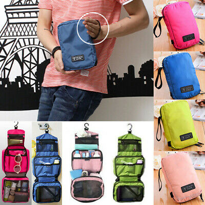 Travel Cosmetic Storage MakeUp Bag Folding Toiletry Wash Organizer Hanging Pouch
