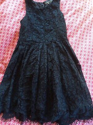 Girls M&S autograph navy party dress Age 5-6yrs