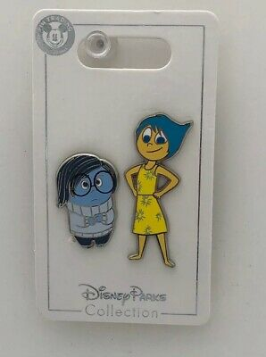 Disney Parks Trading Pins Pixar Inside Out Joy and Sadness 2 Pin Set