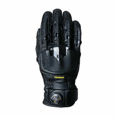 Knox Handroid POD MK4 Armoured Motorbike Motorcycle Leather Gloves Black