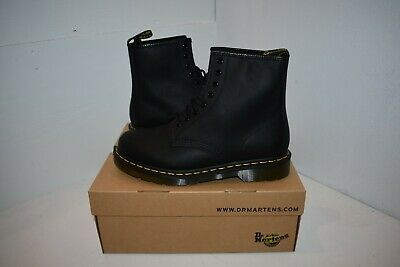 Dr.Martens 1460 8-Eyelet Black Mens Greasy Leather Lace-up Combat Boots UK 8