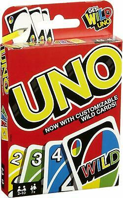 Mattel Uno Playing Card Game Strategy Game for 2 People Indoor Game for Children