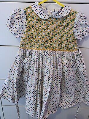 Girls Spanish Front And Back Smock Dress 18/24 Months (mary Valler)