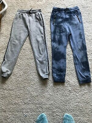 Blue NEXT And Grey Primark Boys Joggers Age 9