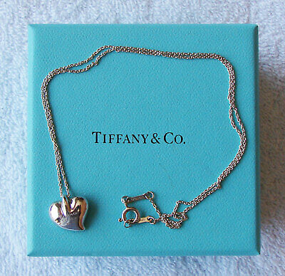 Tiffany & Co. Elsa Peretti Heart Pendent Necklace