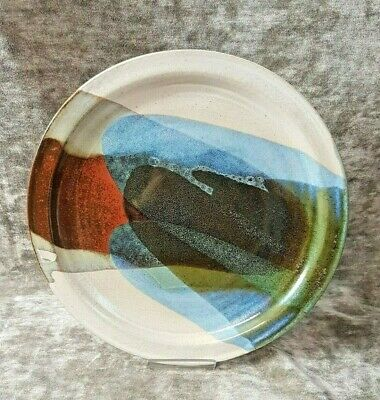 *Collectable Studio Art Pottery Plate - Abstract Design Signed
