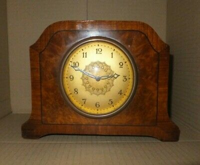 Antique Inlaid Mantel clock