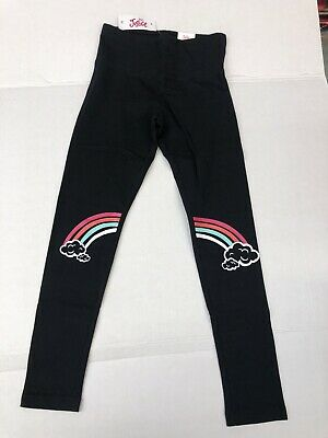 New! Justice Girls Graphic Legging Black Color With Rainbow Design Size 8,10,12