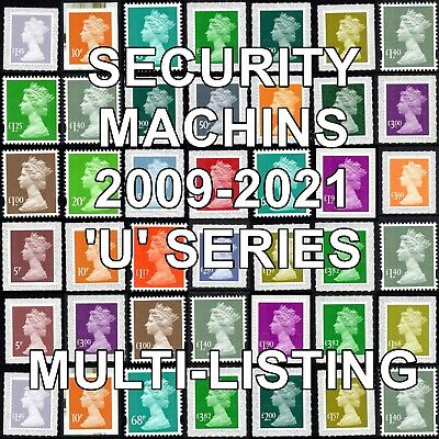 2009+  Machin Definitives U Series Security Multiple Listing Unmounted Mint