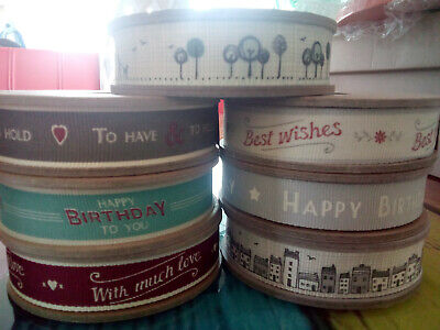 Happy Birthday To You 3m Ribbon Spool East Of India