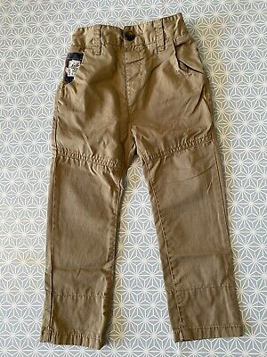 NEXT Boys Tan Turnup Trousers Chinos age 2-3