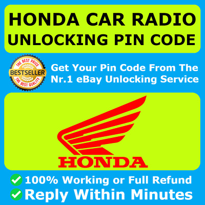 HONDA RADIO CODE CR-Z Insight Legend NSX Pilot City CRV Civic City Jazz Accord