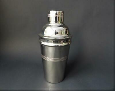 Art Deco Silver Plate Cocktail Shaker - English Made Barware, Cocktails,