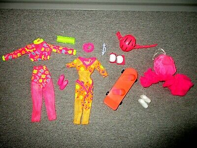 Barbie💖Clothes-Brights-Workout-Exercise-Bag to Dress-Accessories-Shoes-Lot e3