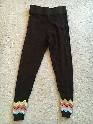 Missoni Leggings Target Girls Size Small 6 Chevron ZigZag Brown