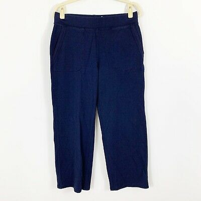 T By Talbots Blue Relaxed Pull-on Pants Size Medium PETITE Cotton Modal Comfy