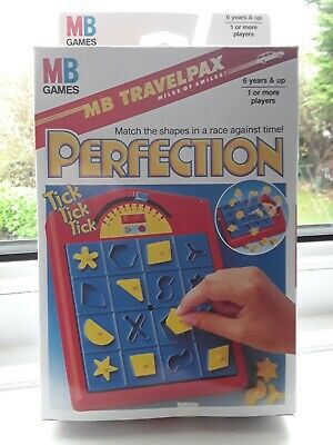 Vintage 1993 - Hasbro Mb Games Travel Perfection - Brand New Sealed