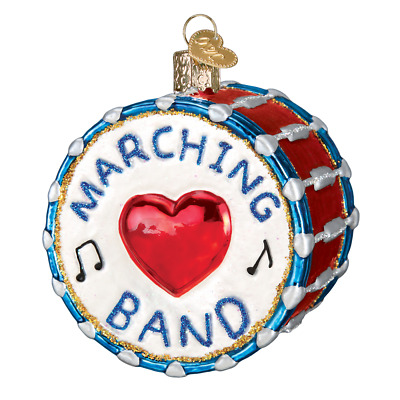 Old World Christmas MARCHING BAND (Drum) (38052)X Glass Ornament w/ OWC Box