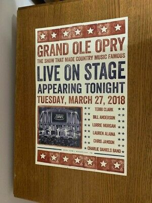 Grand Ole Opry Hatch Print Tuesday March 27 2018