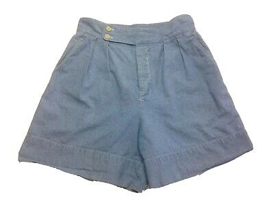Vintage Calvin Klein Denim Shorts W12 Chambray Blue High Waist Mom Jean 80s USA