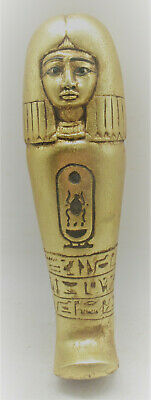 Large & Impressive Ancient Egyptian Gold Gilded Ushabti Shabti Very Nice