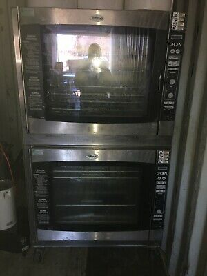 Double Groen Combi Oven Steamer TRI RES 20G Nat Gas Double Oven Restaurant