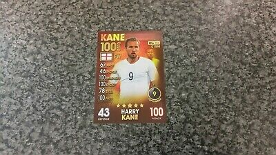 Match Attax 101 Collection 2019 Harry Kane (England) Hundred 100 Club Mint