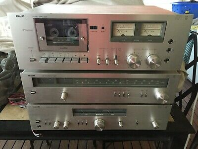 Vintage Philips hi fi stereo system with turntable