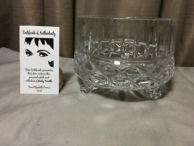 Footed Crystal Centerpiece Bowl From The Late Keely Smith Estate
