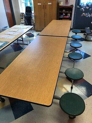 EUC Mobile Stool Table Portable Unit for cafeteria, daycare, school, church, etc