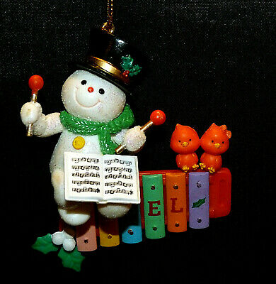 Trevco Trading Corp ~ Mistletoe Magic ~ Snowman Playing Xylophone ~ MIB