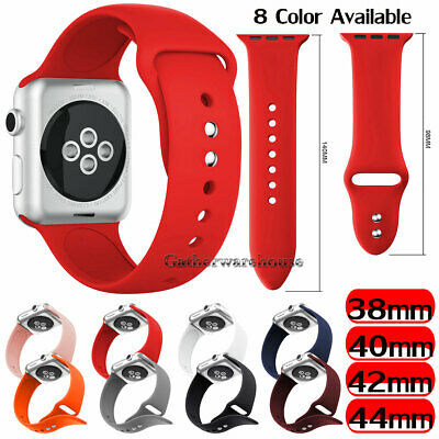 Sports Silicone Band Strap For Apple Watch iWatch Series 1/2/3/4/5 38/42/40/44mm